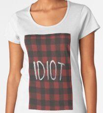 Idiot Flanel Michael Clifford 5sos Women's Premium T-Shirt