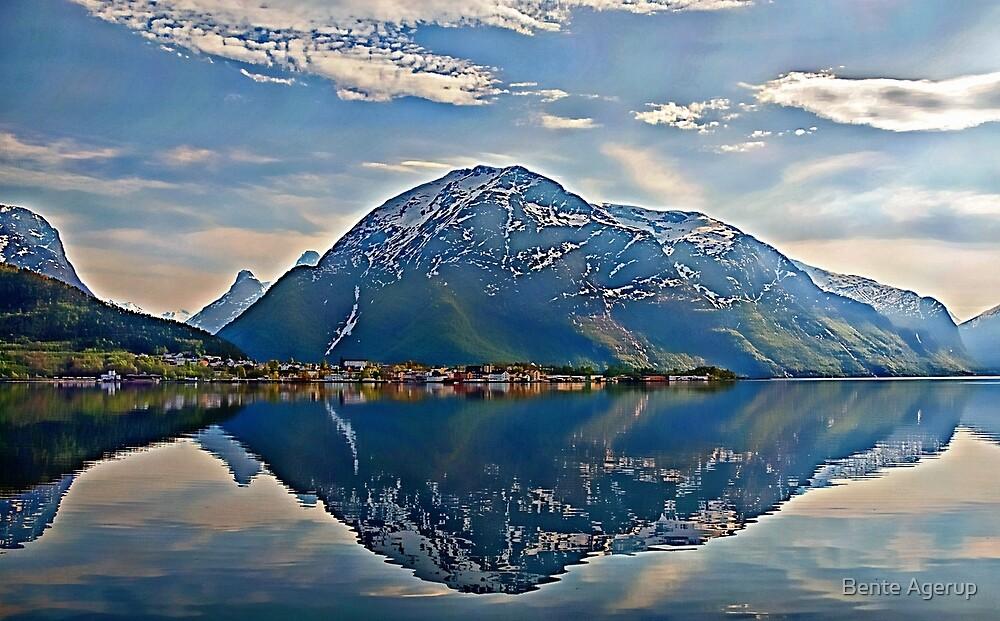 By the foot of the mountain by Bente Agerup