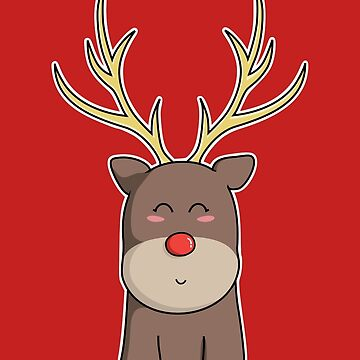 Cute Kawaii Christmas Reindeer by freeves