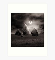 Moonlit Stones Art Print