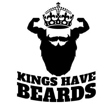 Kings have beard by curdycurie