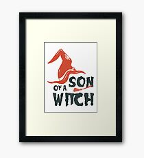 Son of witch Framed Print
