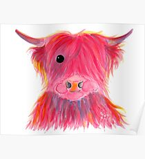 Scottish Highland Cow ' MAGGIE ' by Shirley MacArthur Poster