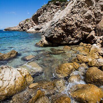 Port de San Miguel, Ibiza by Tonywallbank