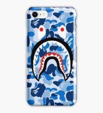 A Bathing Ape Blue Shark iPhone Case/Skin