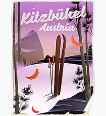 Kitzbühel austrian ski poster Poster