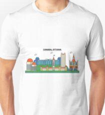 Canada, Ottawa City Skyline Design T-Shirt