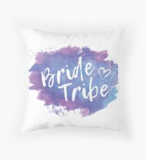 Bride Tribe Throw Pillow