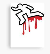 MURDER OUTLINE Coroner outline dead person  Canvas Print