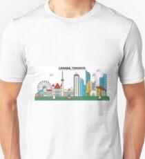 Canada, Toronto City Skyline Design T-Shirt