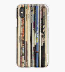 Classic Rock Vinyl Records  iPhone Case/Skin