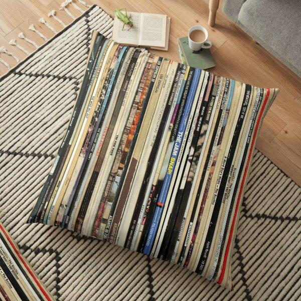 Classic Rock Vinyl Records  Floor Pillow