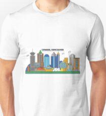 Canada, Vancouver City Skyline Design T-Shirt