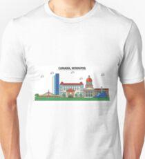 Canada, Winnipeg City Skyline Design T-Shirt