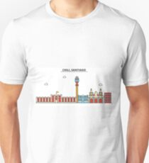 Chili, Santiago City Skyline Design T-Shirt