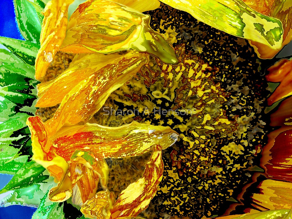 ABSTRACT SUNFLOWER lll by Sharon A. Henson