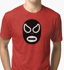 Lucha Libre // Mexican Wrestling Mask Black and White Tri-blend T-Shirt