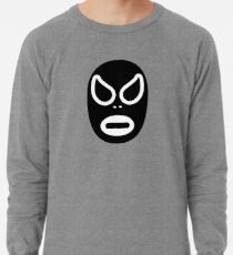 Lucha Libre // Mexican Wrestling Mask Black and White Lightweight Sweatshirt