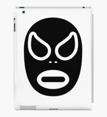 Lucha Libre // Mexican Wrestling Mask Black and White iPad Case/Skin