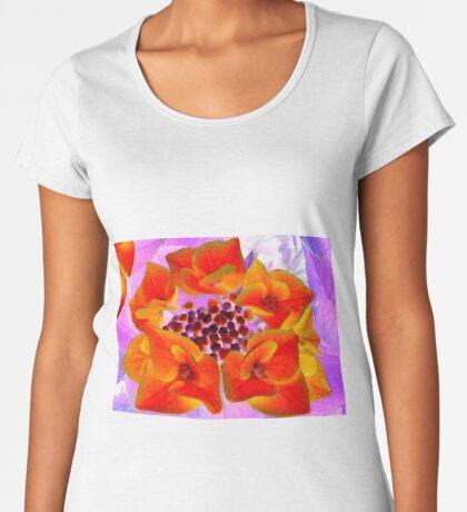 Glowing Hydrangea Women's Premium T-Shirt