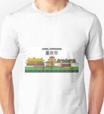 China, Chongqing City Skyline Design T-Shirt