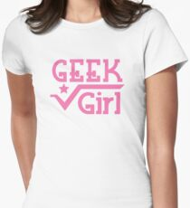 Geek Girl with pi T-Shirt