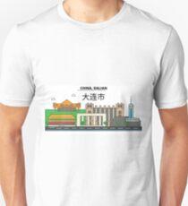 China, Guilin City Skyline Design T-Shirt