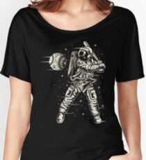 Space Baseball Astronaut Retro Vintage Women's Relaxed Fit T-Shirt