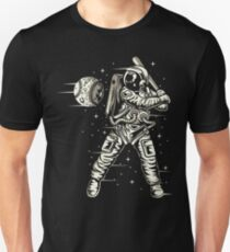 Space Baseball Astronaut Retro Vintage T-Shirt