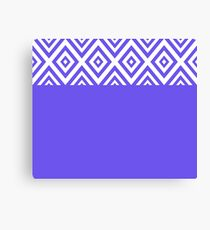 Abstract geometric pattern - blue and white. Canvas Print