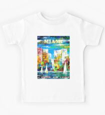 DELTA AIR LINES : Vintage Fly to Miami Advertising Print Kids Tee