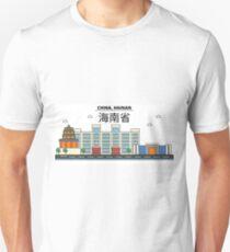 China, Hainan City Skyline Design T-Shirt
