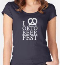 I Love Oktobeerfest Oktoberfest Pretzel Shirt Women's Fitted Scoop T-Shirt