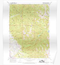 USGS TOPO Map Idaho ID Thompson Peak 238466 1966 24000 Poster