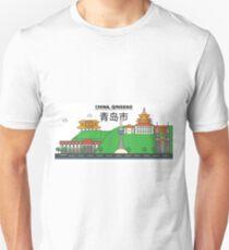 China, Qingdao City Skyline Design T-Shirt
