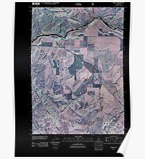 USGS TOPO Map Idaho ID Heise SE 20110107 TM Inverted Poster