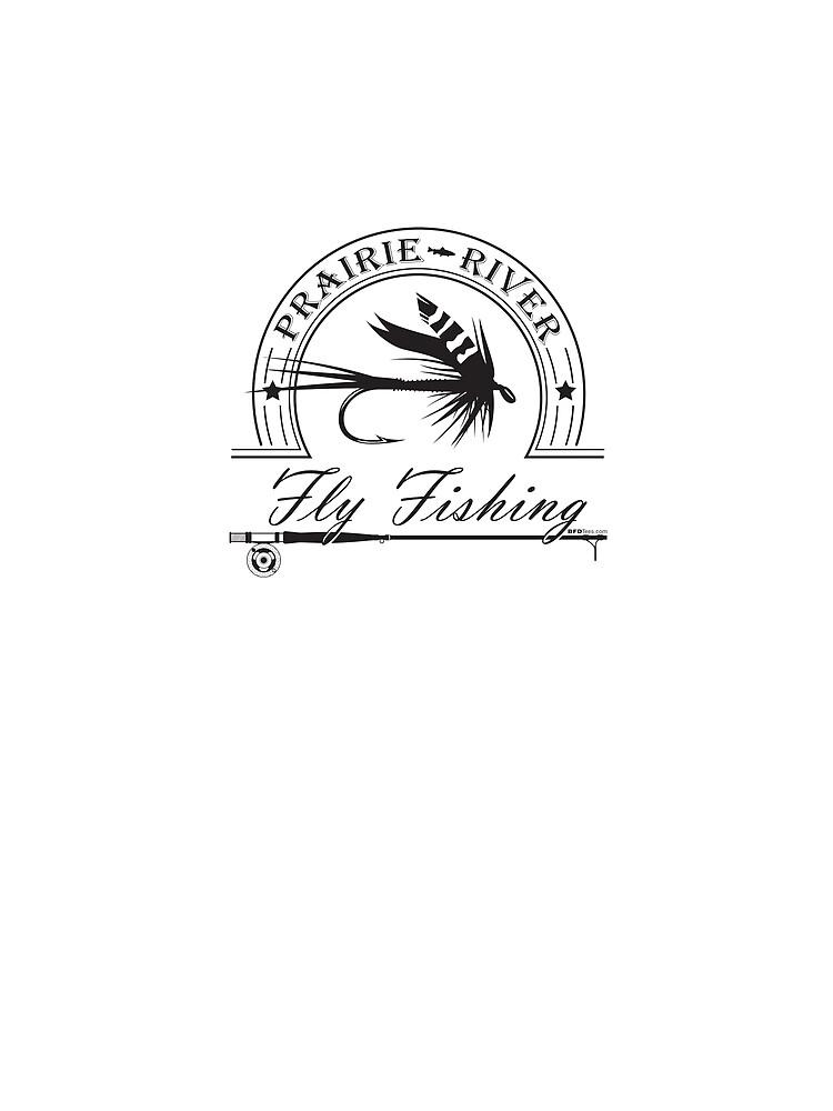Prairie River Fly Fishing - Black by bigfatdesigns