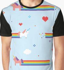 Unicorns and Rainbows Video Game Vintage Graphic T-Shirt