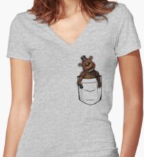 fnaf pocket Women's Fitted V-Neck T-Shirt