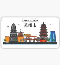 China, Suzhou City Skyline Design Sticker
