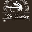 Prairie River Fly Fishing - White by bigfatdesigns