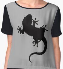 Big Lizard Gecko Silhouette Chiffon Top
