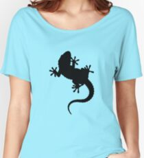 Big Lizard Gecko Silhouette Women's Relaxed Fit T-Shirt