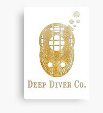 Deep Diver txt Canvas Print