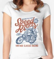Motorcycle Race Retro Vintage Women's Fitted Scoop T-Shirt