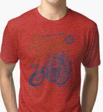 Motorcycle Race Retro Vintage Tri-blend T-Shirt