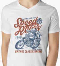 Motorcycle Race Retro Vintage Men's V-Neck T-Shirt