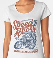 Motorcycle Race Retro Vintage Women's Premium T-Shirt
