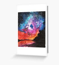 Night Sky - Colour Burst   Galaxy Art Greeting Card