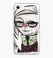rabbit combover iPhone Case/Skin